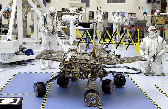 Opportunity rover being tested at Kennedy Space Center