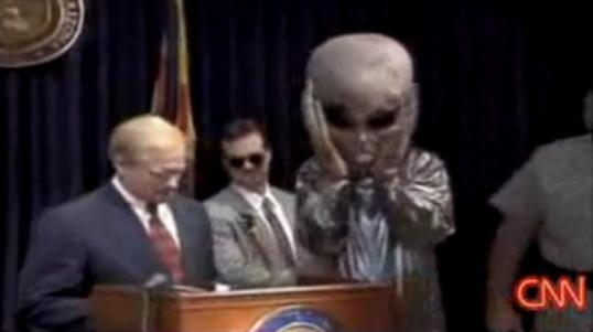 Arizona Govenor Symington at press conference