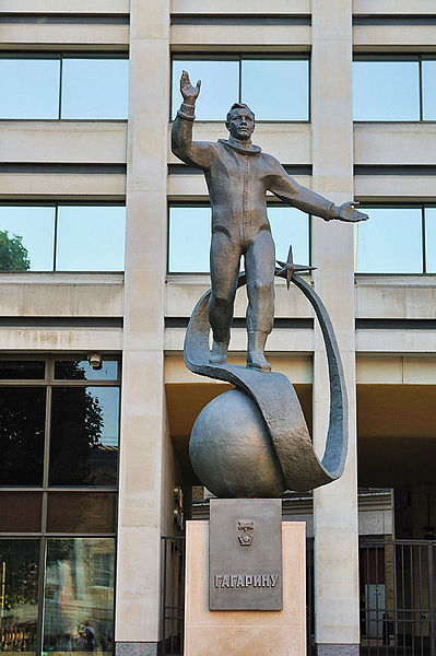 Statue of Gagarin in London, near Admiralty Arch, unveiled July 14, 2011