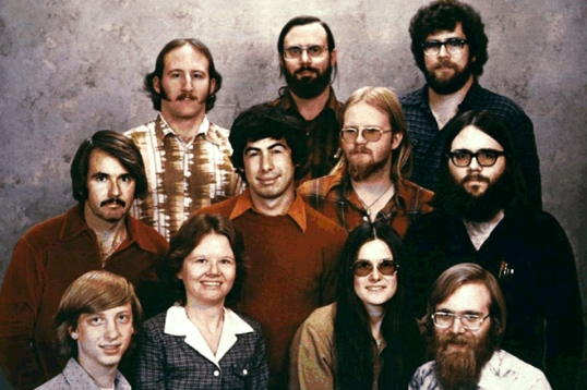 A 1978 photo of early Microsoft employees