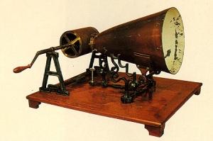Model of Édouard-Léon Scott de Martinville's phonautograph