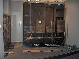 Piece of ENIAC on display at the University of Pennsylvania