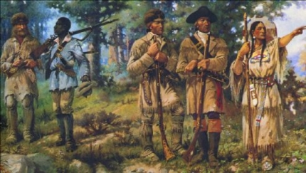 Rendition witt African American York and Sacagawea