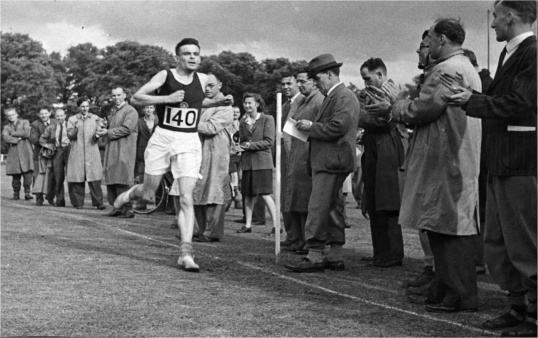 Alan Turing achieved world-class Marathon standards. His best time of 2 hours, 46 minutes, 3 seconds, was only 11 minutes slower than the winner in the 1948 Olympic Games. In a 1948 cross-country race he finished ahead of Tom Richards who was to win the silver medal in the Olympics.