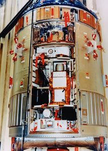 The Scientific Instrument Module of the Apollo 15 Service Module.