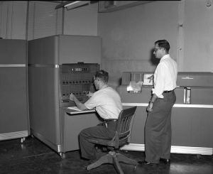 IBM 650 computer at Texas A&M University likely in 1950s