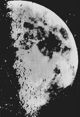 Earliest known surviving photograph of the Moon, a daguerreotype taken in 1851 by John Adams Whipple