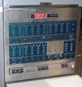 IBM 650 front panel, showing bi-quinary indicators