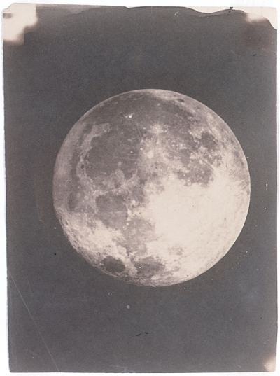 """View of the Moon,"" daguerreotype by John Adams Whipple. Image courtesy of the Harvard-Smithsonian Center for Astrophysics, Harvard College Observatory, Plate Stacks."