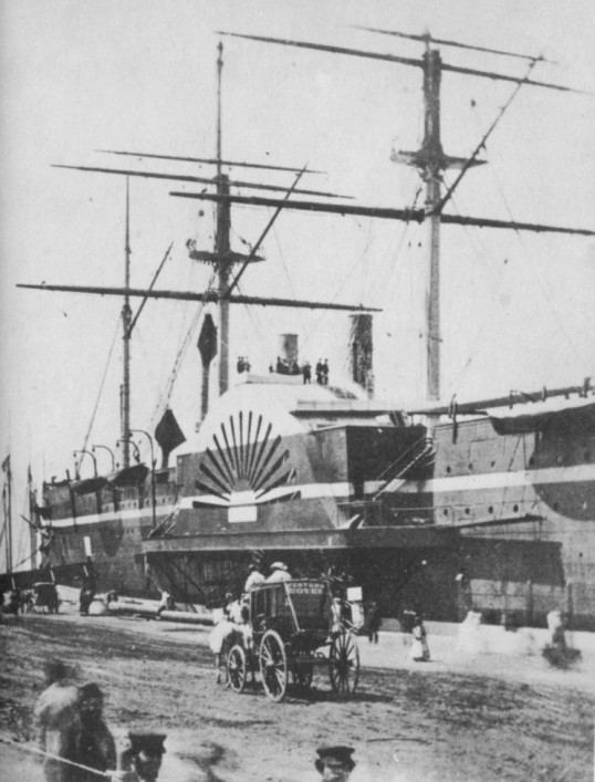 Summer 1860: The Great Eastern at New York during her first visit