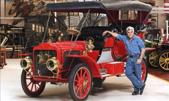 One of the cars in Jay Leno's collection includes this 1908 White steam-powered car. Quite possibly the first people-mover of its kind, the White touring car could seat seven, and was one of the first official cars of the President of the United States