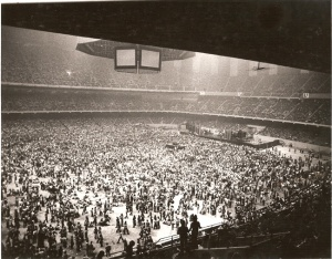"""Shot from Allman Brothers concert at the """"Dome"""""""