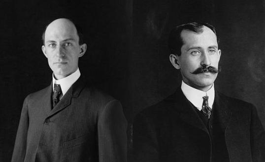Wilber (left) and Orville Wright