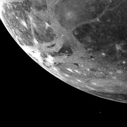 Picture of Ganymede, Jupiter's largest satellite, was taken by Voyager 1