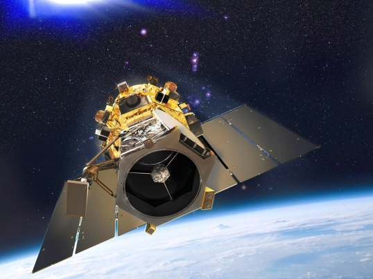 GeoEye illustration  Artist's concept of GeoEye-1 satellite.