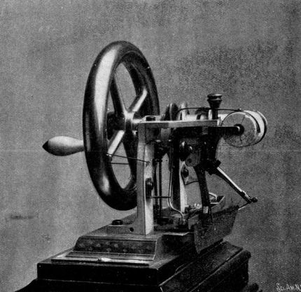 The Elias Howe machine, September 10, 1846. Earliest model filed in Patent Office