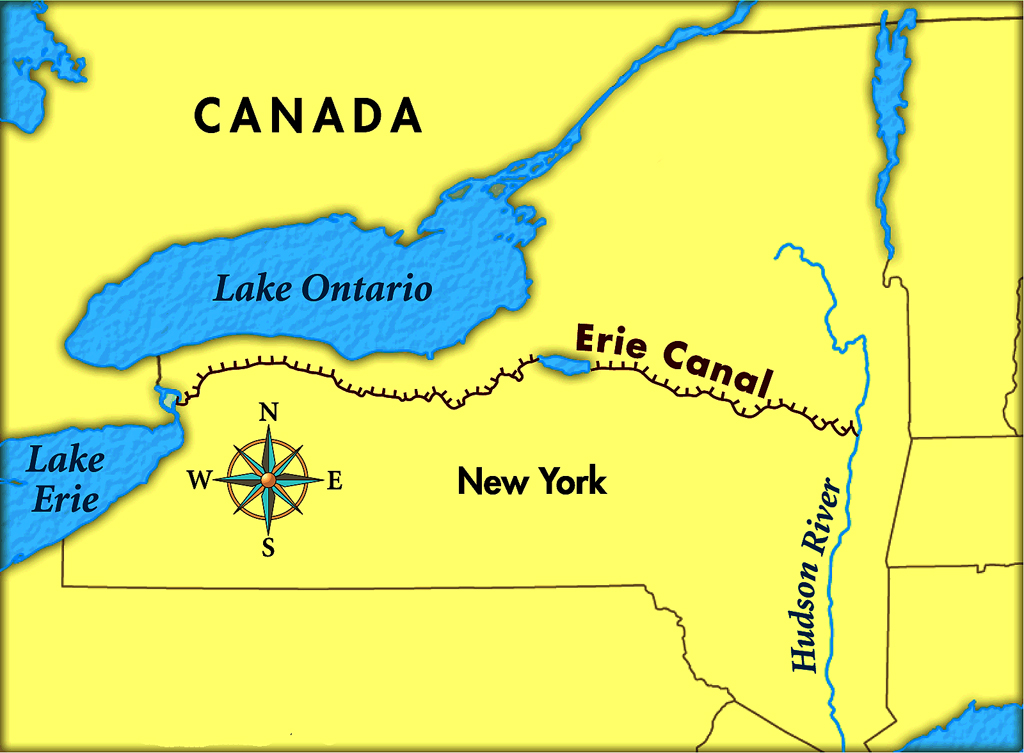 Canals in the united states : Erie canal this day in tech history