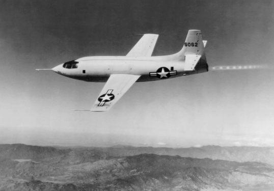 X-1 in flight