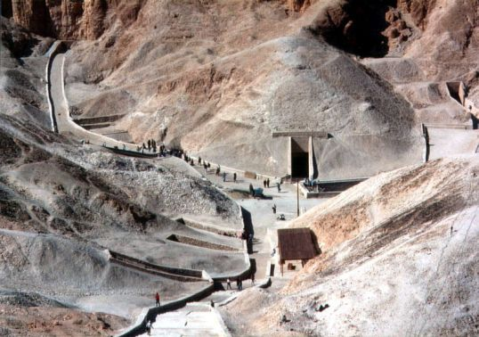 Tut's tomb entrance in The Valley of the Kings