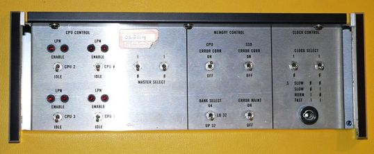 Control panel of the CRAY X-MP