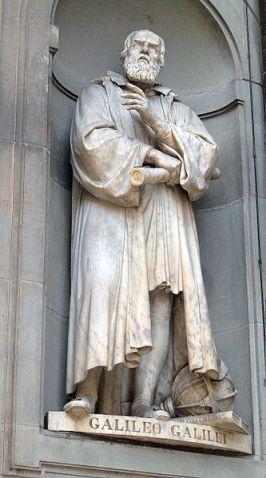 Statue of Galileo Galilei (1564-1642); outside of the Uffizi, Florence
