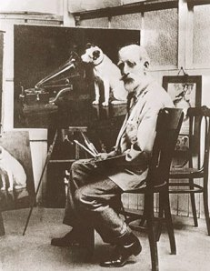 Barraud at his easel