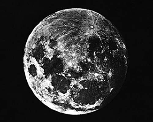 One of the first ever pictures of the moon taken by Dr J W Draper in 1840