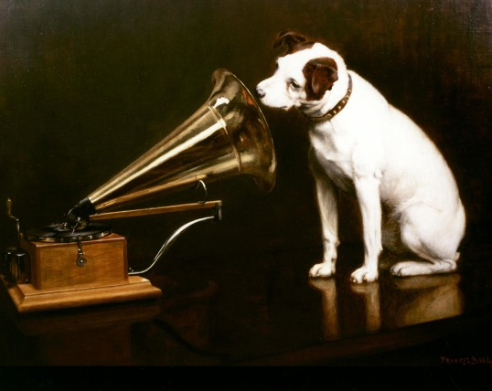 Nipper with the Gramophone
