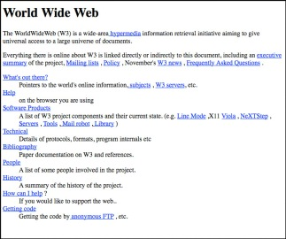 1st web page