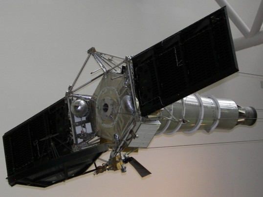 Replica of the Ranger Lunar probe on display at the National Air and Space Museum. (Photos: Richard Kruse, 2008-2009)