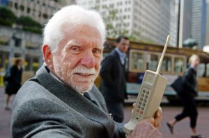 "Martin Cooper in NY at ""the spot"" of the call"