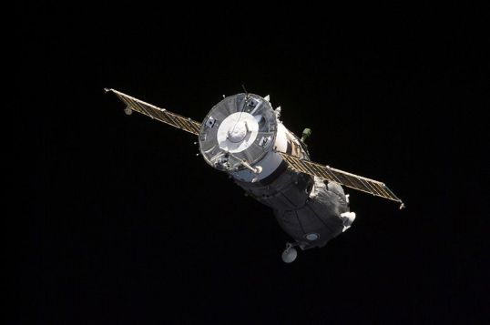 Soyuz TM-32 departing the International Space Station