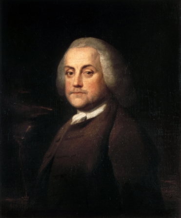 Portrait by Benjamin Wilson oil on canvas 1759