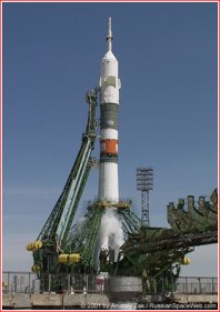 Soyuz TM-32 Moments Before Launch