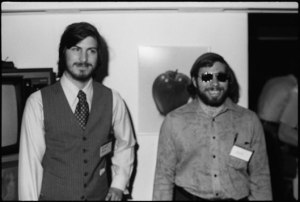 Jobs and Steve Wozniak at the fair