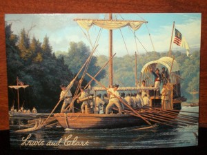 Lewis & Clark depart from the Woods River