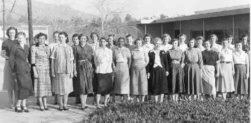 "During the 1940s and 1950s, JPL used the word ""computer"" to refer to a person rather than a machine. The all-female computer team, many of the members recruited right out of high school, were responsible for doing all the math by hand required to plot satellite trajectories and more."